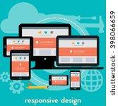 responsive webdesign concept... | Shutterstock .eps vector #398066659