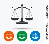 Scales Of Justice Icon. Court...