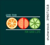 healthy food and healthy... | Shutterstock .eps vector #398071318