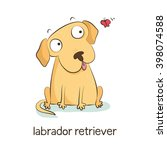 labrador retriever. cute vector ... | Shutterstock .eps vector #398074588