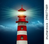 realistic lighthouse  in the... | Shutterstock .eps vector #398077489