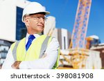 engineer builder at... | Shutterstock . vector #398081908
