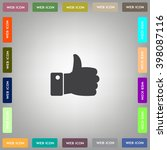 vector thumb up icon | Shutterstock .eps vector #398087116