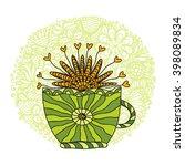 green tea vector illustration | Shutterstock .eps vector #398089834