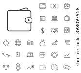 linear finance icons set....