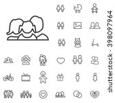 linear family icons set.... | Shutterstock .eps vector #398097964