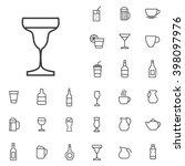linear drinks icons set.... | Shutterstock .eps vector #398097976