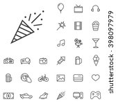 linear entertainment icons set. ...