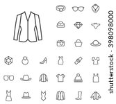 linear fashion icons set.... | Shutterstock .eps vector #398098000