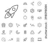 linear startup icons set.... | Shutterstock .eps vector #398098084