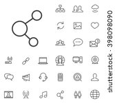 linear social media icons set....