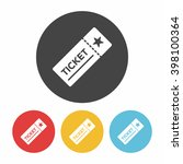 ticket icon | Shutterstock .eps vector #398100364