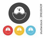 chicken icon | Shutterstock .eps vector #398100439