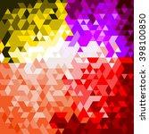 triangle diamond glitter...   Shutterstock .eps vector #398100850