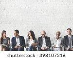 business people meeting... | Shutterstock . vector #398107216
