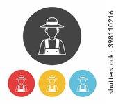 farmer icon | Shutterstock .eps vector #398110216