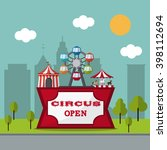 circus wheel and tent design  | Shutterstock .eps vector #398112694
