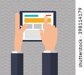 tablet icon design  vector... | Shutterstock .eps vector #398114179