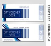 gift voucher. vector ... | Shutterstock .eps vector #398115886