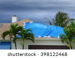 Storm Damaged Roof On House...