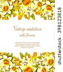 abstract flower background with ... | Shutterstock .eps vector #398123818