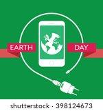 earth day celebration poster... | Shutterstock .eps vector #398124673