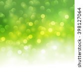vector green bokeh light... | Shutterstock .eps vector #398127064
