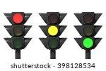 traffic lights set  isolated on ...   Shutterstock . vector #398128534