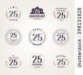 twenty five years anniversary... | Shutterstock .eps vector #398131828