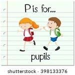 flashcard letter p is for... | Shutterstock .eps vector #398133376