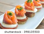 Canapes With Salmon And Cheese...