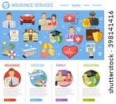 insurance services concept in...   Shutterstock .eps vector #398141416