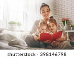 funny family mother and her... | Shutterstock . vector #398146798