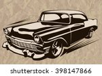 vintage muscle cars inspired... | Shutterstock .eps vector #398147866