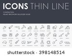 thin stroke line icons of... | Shutterstock .eps vector #398148514