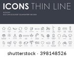 thin stroke line icons of... | Shutterstock .eps vector #398148526