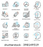 thin line icons set. business... | Shutterstock .eps vector #398149519