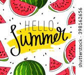 hello summer inscription on the ... | Shutterstock .eps vector #398162656