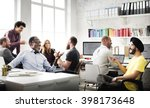 business team discussion... | Shutterstock . vector #398173648