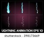 lightning animation. game... | Shutterstock .eps vector #398173669