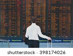 people in the airport  business ... | Shutterstock . vector #398174026