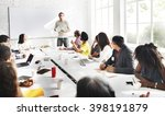 business meeting teamwork... | Shutterstock . vector #398191879