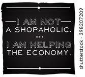 funny  inspirational quotation... | Shutterstock . vector #398207209
