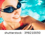 female swimmer  portrait of a... | Shutterstock . vector #398210050