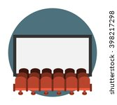 cinema hall flat icon. rows of... | Shutterstock .eps vector #398217298