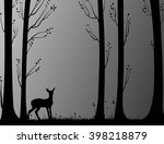 young deer in the forest ... | Shutterstock .eps vector #398218879