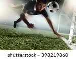 soccer player heading soccer... | Shutterstock . vector #398219860