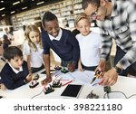 electronic experiment... | Shutterstock . vector #398221180