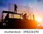 construction workers work in...   Shutterstock . vector #398226190