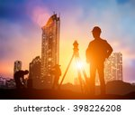silhouette young engineer... | Shutterstock . vector #398226208
